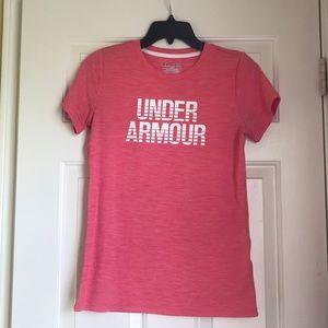pink under armour shirt